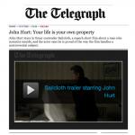 John Hurt Telegraph