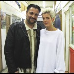 Mem Ferda with Agyness Deyn on the set of Pusher