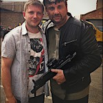 Mem Ferda with Ben Drew on the set of Ill Manors