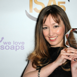 Lisa-Gifford-accepts-award-ISA-3some-Lead-Actor-Peter-Halpin