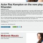 ▶ BBC WM 95.6 - Midlands Masala, Actor Rez Kempton on the new play Khandan