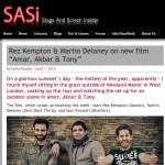 "Rez Kempton & Martin Delaney on new film ""Amar, Akbar & Tony"" | Stage and Screen Insider"